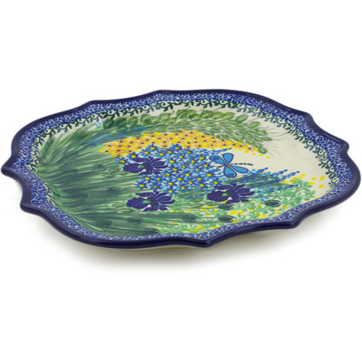 "Polish Pottery Platter 10"" Dragonfly Bounty UNIKAT"