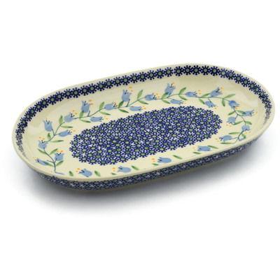 "Polish Pottery Platter 11"" Sweet Dreams"