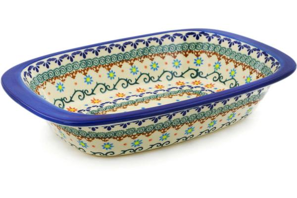 Polish Pottery Rectangular Baker With