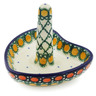 "Polish Pottery Ring Holder 3"" Orange Tranquility UNIKAT"