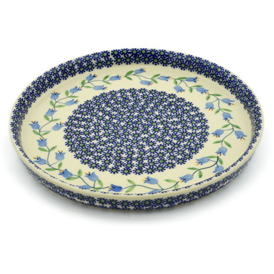 "Polish Pottery Round Platter 10"" Sweet Dreams"