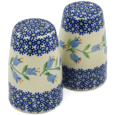 "Polish Pottery Salt and Pepper Set 4"" Sweet Dreams"