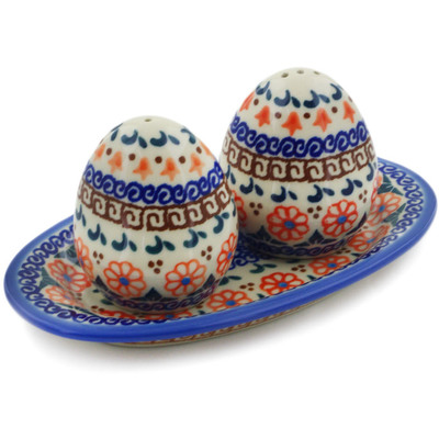Polish Pottery Salt and Pepper Set Amarillo
