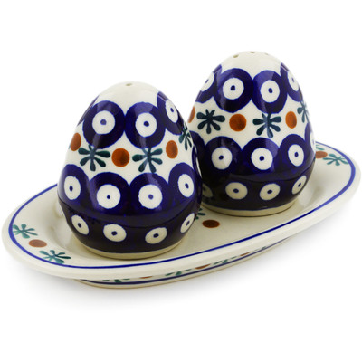 Polish Pottery Salt and Pepper Set Mosquito