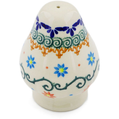 "Polish Pottery Salt Shaker 3"" Sunflower Dance"