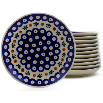 Polish Pottery Set of 12 dessert plates Mosquito