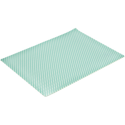 "Polyester Set of 2 Placemats 16"" Green Peacock's Eye UNIKAT"
