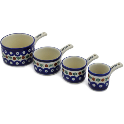 Polish Pottery Set of 4 Measuring Cups  Mosquito