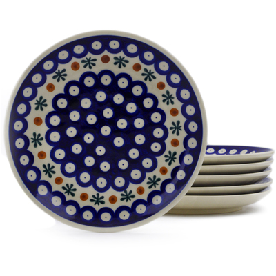 Polish Pottery Set of 6 dessert plates Mosquito