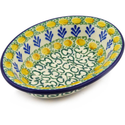"Polish Pottery Soap Dish 5"" Autumn Weatfields"