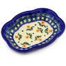 "Polish Pottery Soap Dish 5"" Cocentric Tulips"