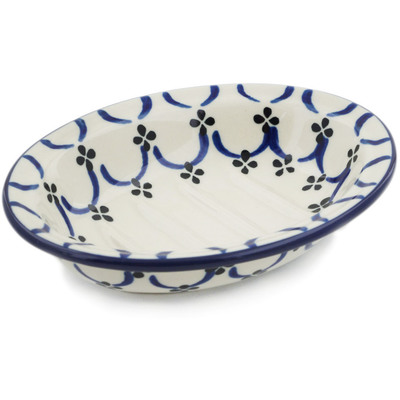 "Polish Pottery Soap Dish 5"" Garden Lattice"