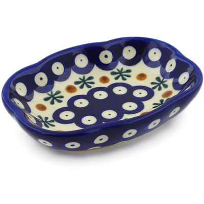 "Polish Pottery Soap Dish 5"" Mosquito"