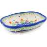 "Polish Pottery Soap Dish 5"" Spring Flowers"