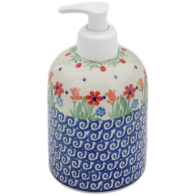 Polish Pottery Soap Dispenser 5""