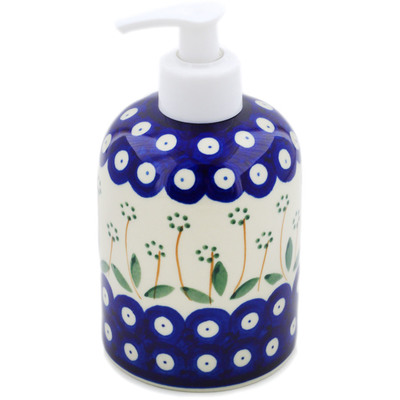"Polish Pottery Soap Dispenser 5"" Springing Daisies"