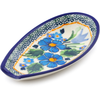 "Polish Pottery Spoon Rest 5"" Evangeline UNIKAT"