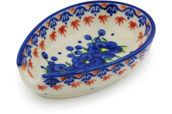 Polish Pottery Spoon Rest 5 Passion Poppy
