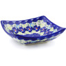 "Polish Pottery Square Bowl 5"" Spring Meadow"