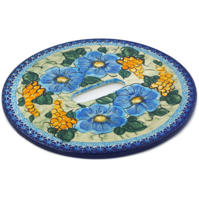 Polish Pottery Stool Insert 9¾-inch Corn In The Blue UNIKAT