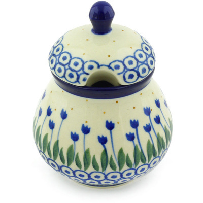 Polish Pottery Sugar Bowl 8 oz Water Tulip