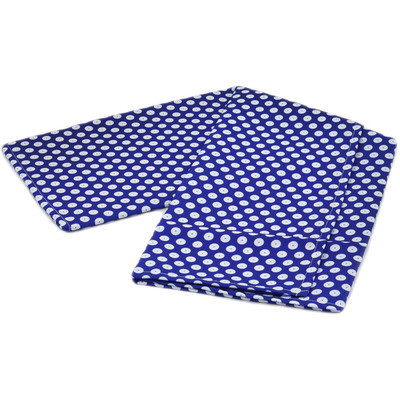Polyester Tablecloth 30-inch x 30-inch Peacock Eyes
