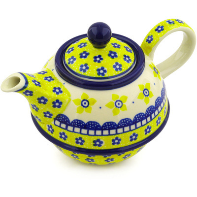 Polish Pottery Tea or Coffee Pot 22 oz Sunshine