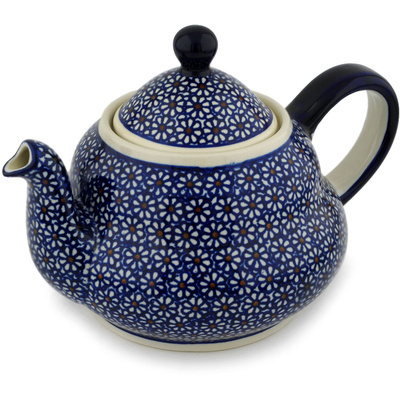 Polish Pottery Tea or Coffee Pot 52 oz Daisy Dreams