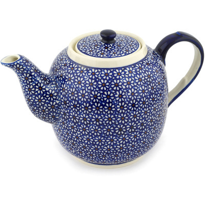Polish Pottery Tea or Coffee Pot 60 oz Daisy Dreams