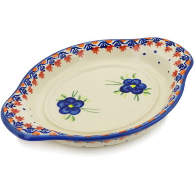 "Polish Pottery Tray 9"" Passion Poppy"