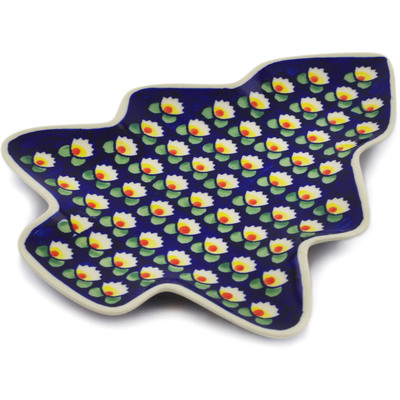 "Polish Pottery Tray 9"" Waterlily"