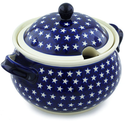 Polish Pottery Tureen 21 Cup America The Beautiful