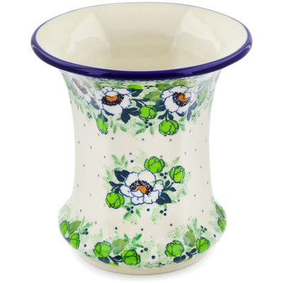 "Polish Pottery Vase 5"" Daisies Wreath UNIKAT"