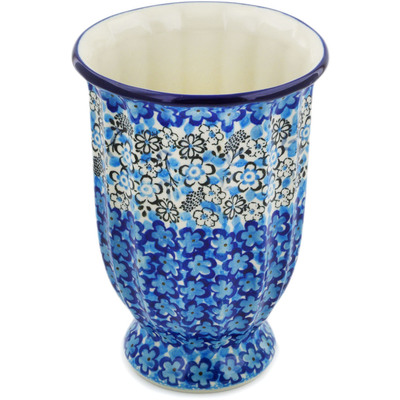 "Polish Pottery Vase 7"" Out Of Blue UNIKAT"