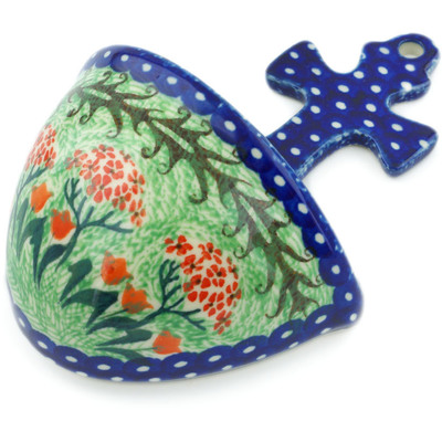 "Polish Pottery Wall Pocket 5"" Rooster Dance UNIKAT"