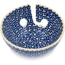 "Polish Pottery Yarn Bowl 6"" Forget-me-not Meadow"